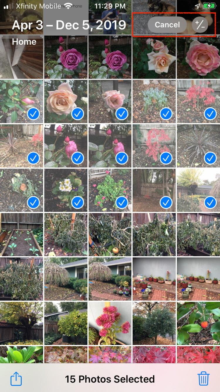 удаление фото с айфона